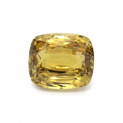 10.21克拉亮色VI1垫形英国金绿宝石