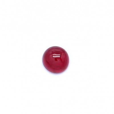 0.19克拉深色VI1圆形格陵兰岛红宝石