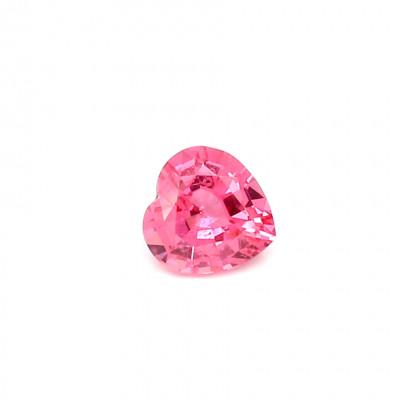 0.51克拉中亮色EC2心形坦桑尼亚尖晶石