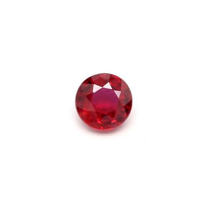 0.21克拉鲜色EC2圆形莫桑比克红宝石