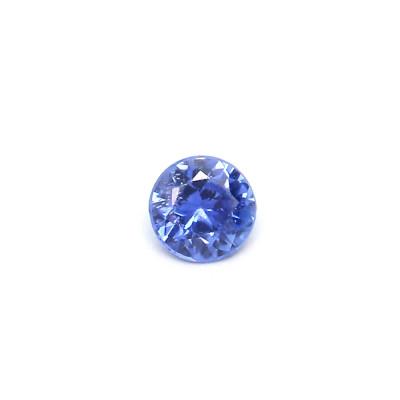0.11克拉中亮色VI1圆形马达加斯加蓝宝石
