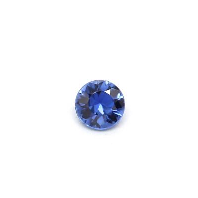 0.11克拉中亮色EC1圆形玄武岩蓝宝石