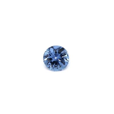 0.09克拉浅色EC1圆形马达加斯加蓝宝石