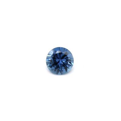 0.10克拉中亮色EC1圆形马达加斯加蓝宝石