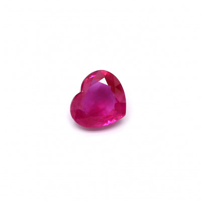 1.05克拉中亮色VI1心形缅甸红宝石