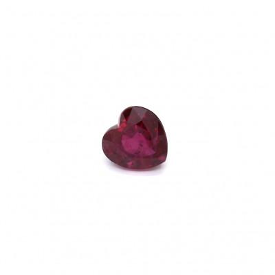 0.79克拉深色VI2心形泰国红宝石