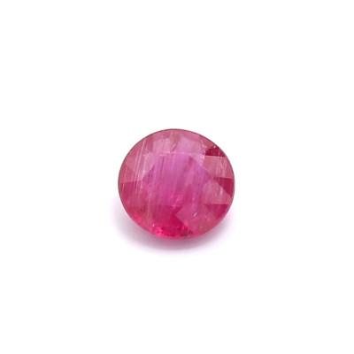 0.43克拉中亮色I1圆形莫桑比克红宝石