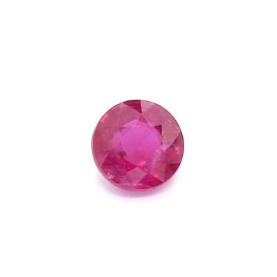 0.48克拉亮色VI2圆形莫桑比克红宝石