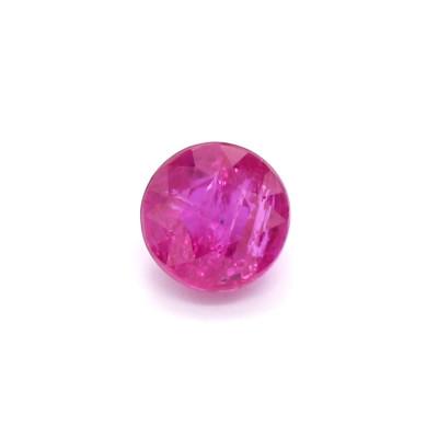 0.69克拉中亮色I1圆形莫桑比克红宝石