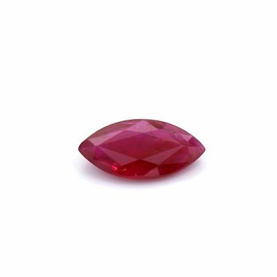 0.70克拉鲜色I1橄榄形莫桑比克红宝石